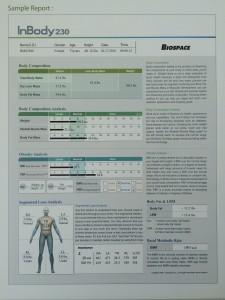 InBody230 result